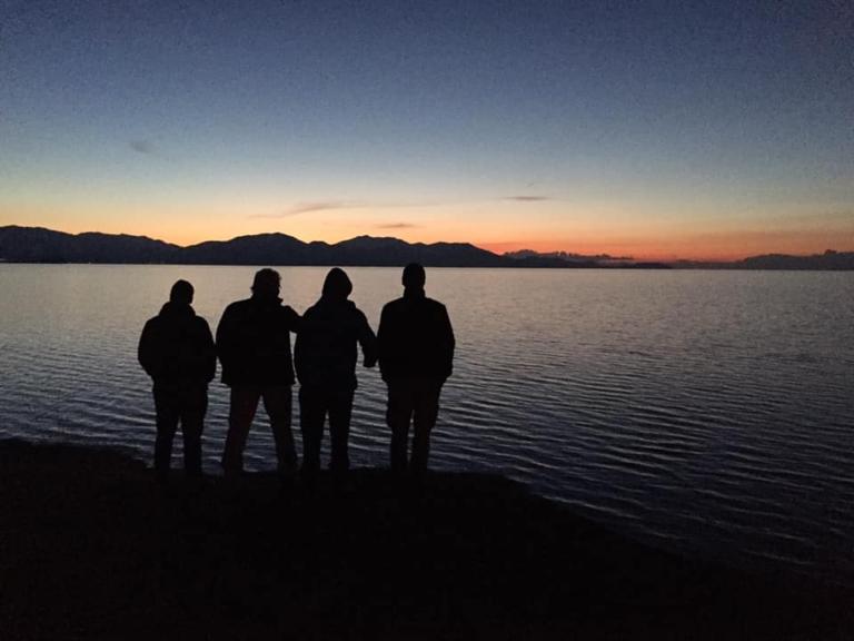 Soumrak nad jezerem Vat