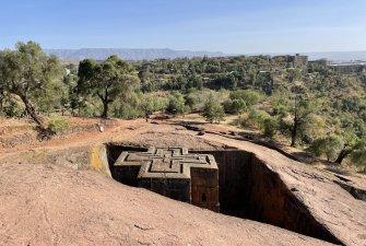 Návštěva horského města Lalibela, Etiopie.