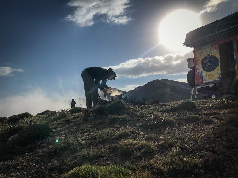 WildCamping v horách, oblast Mázándárán.
