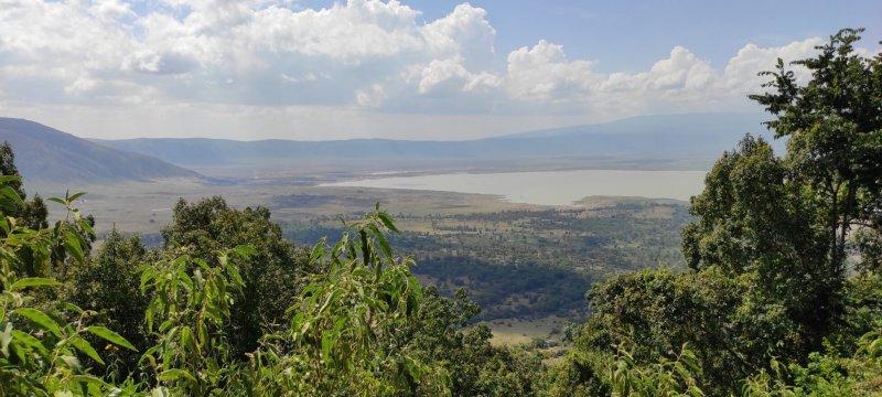 Ngorongoro, kráter.
