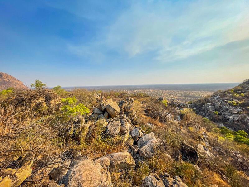 Hory bohů jsou ukryté v poušti Kalahari.