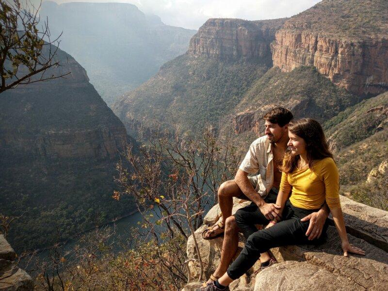 Petr Míšek se svou manželkou Anežkou /Dračí hory, Jihoafrická republika 2021